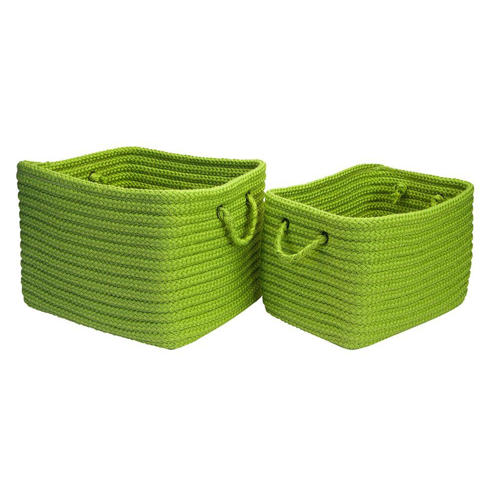 16 in. x 12 in. x 10 in. Modern Mudroom Polypropylene Storage in Apple Green