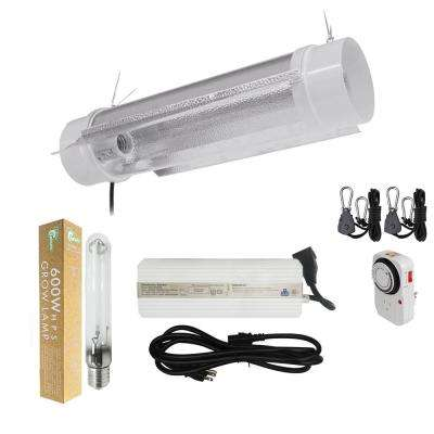 600-Watt HPS Grow Light System with 6 in. Cool Tube with Wing Reflector