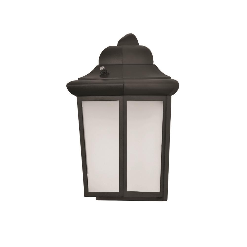 Patriot Medium 1-Light Black Integrated LED Outdoor Wall Sconce