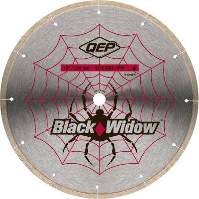 Black Widow 10 in. Wet Tile Saw Micro-Segmented Diamond Blade for Porcelain, Marble, Granite and Ceramic Tile