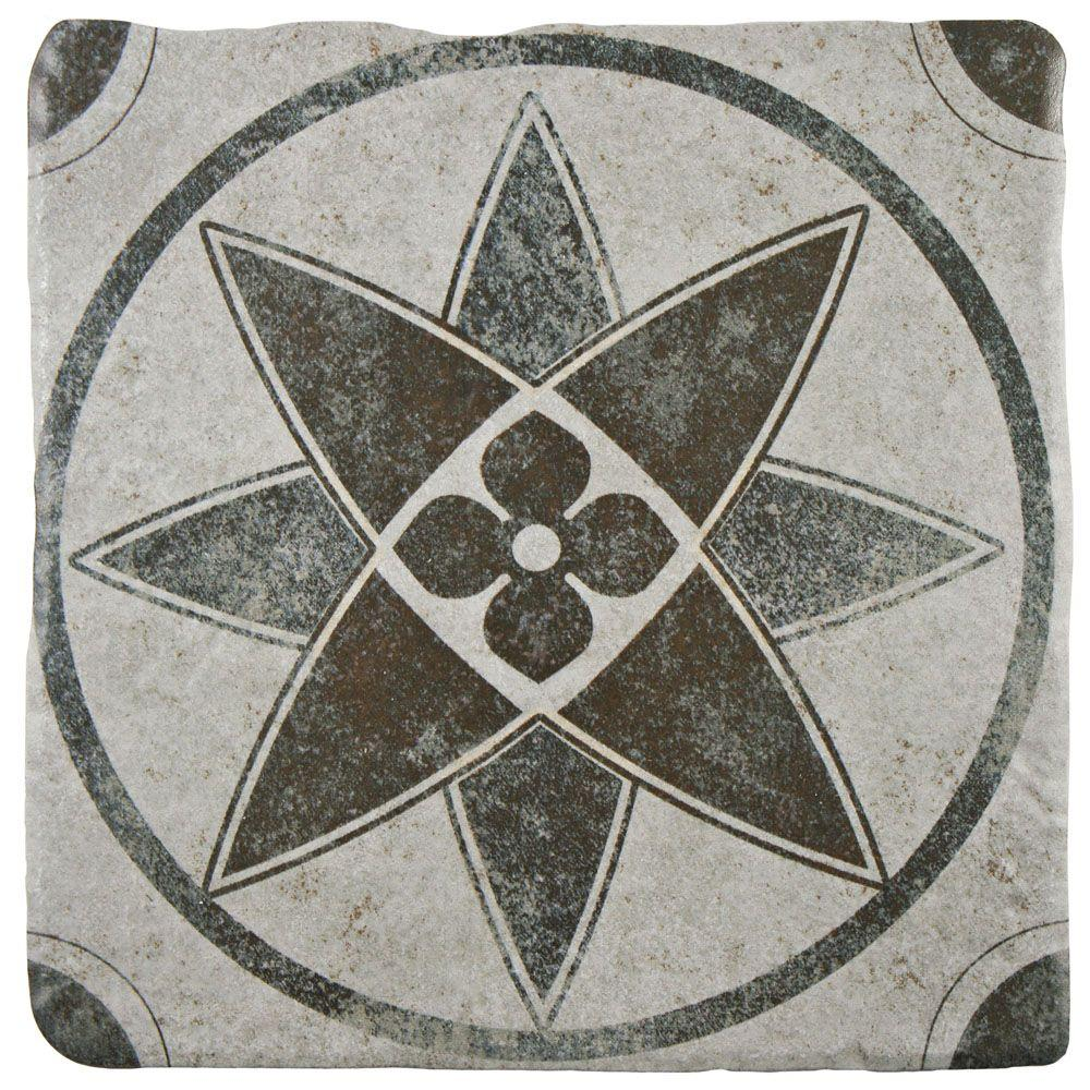 Merola tile costa cendra decor starflower 7 34 in x 7 34 in merola tile costa cendra decor starflower 7 34 in x 7 34 in ceramic floor and wall tile 115 sq ft case feb8ccd5 the home depot dailygadgetfo Gallery