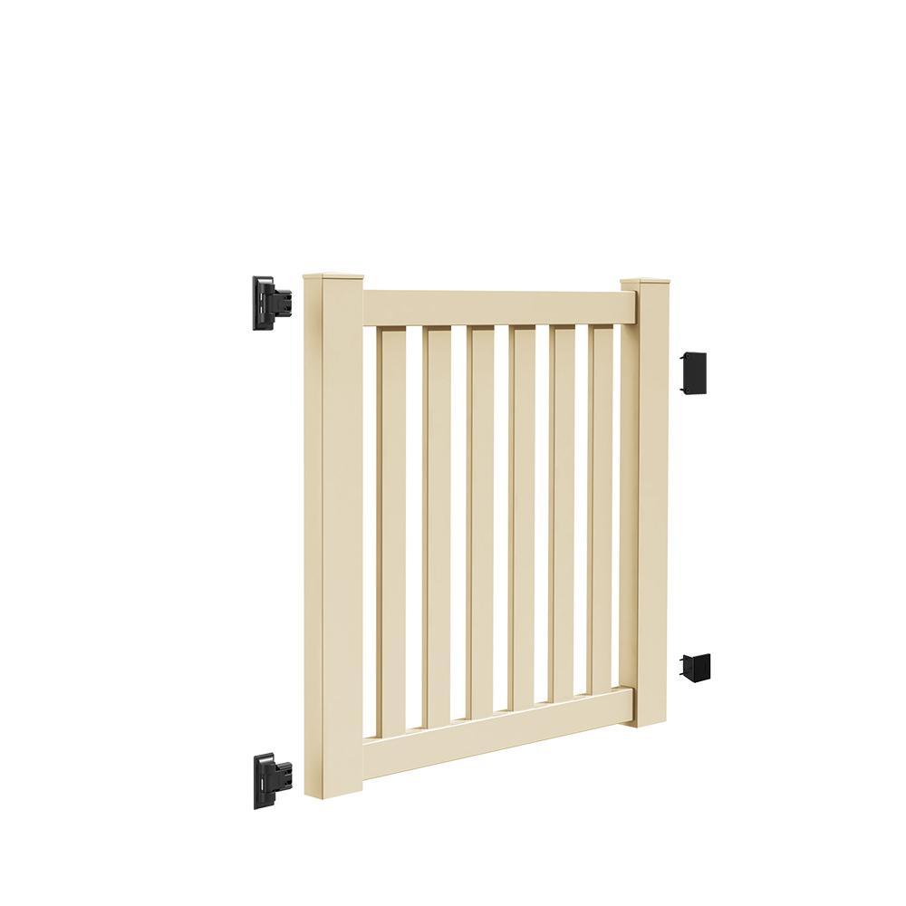 Ohio 4 ft. W x 4 ft. H Sand Vinyl Un-Assembled Fence Gate