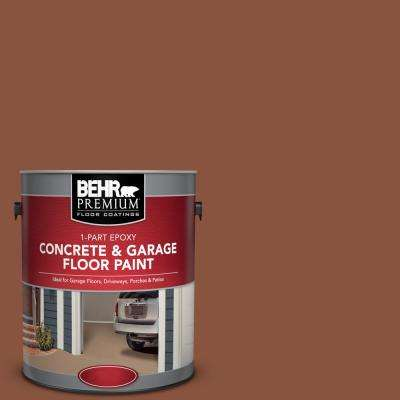 1 gal. #S180-7 True Copper 1-Part Epoxy Satin Interior/Exterior Concrete and Garage Floor Paint