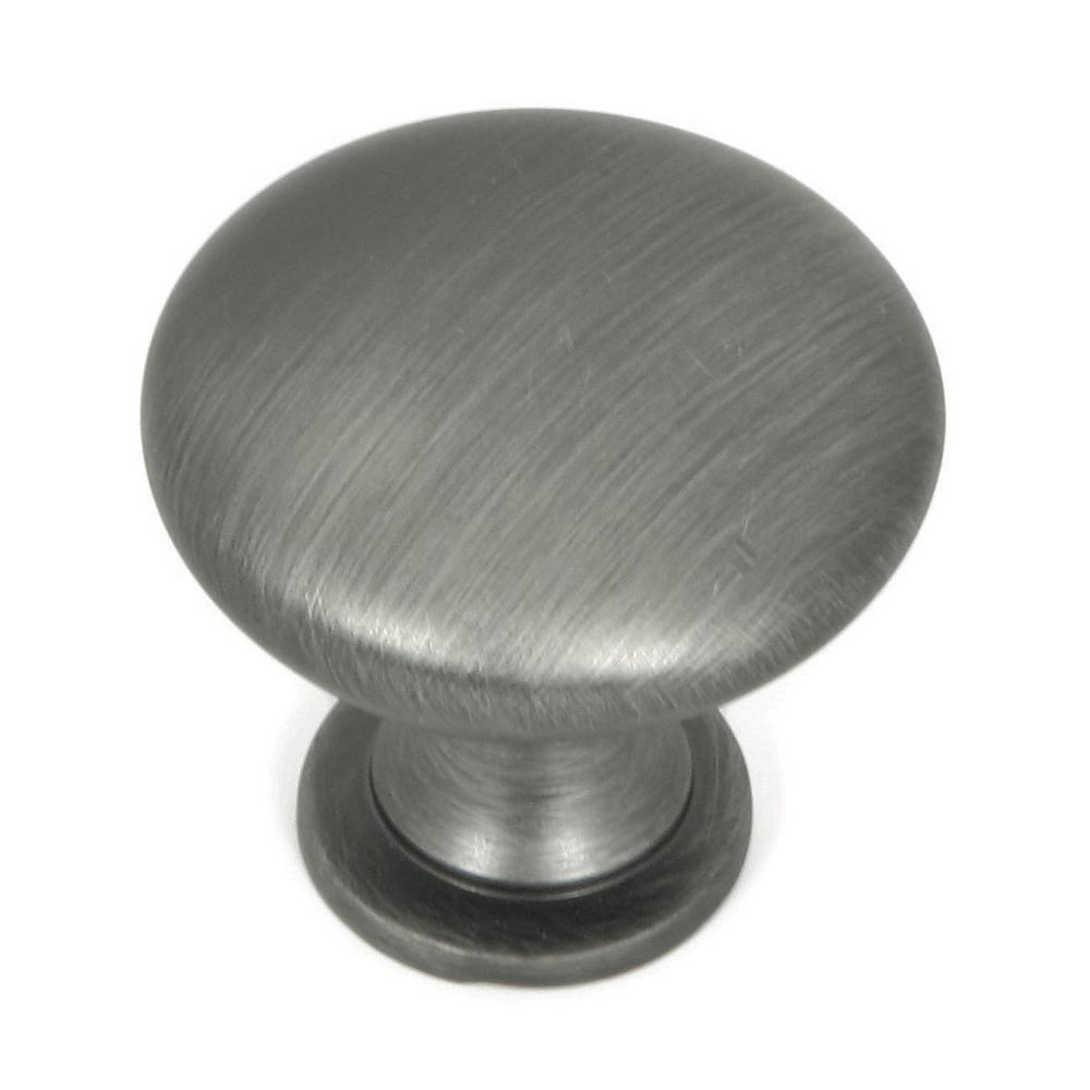 Stone Mill Hardware 1.25 in. Weathered Nickel Round Cabinet Knob ...