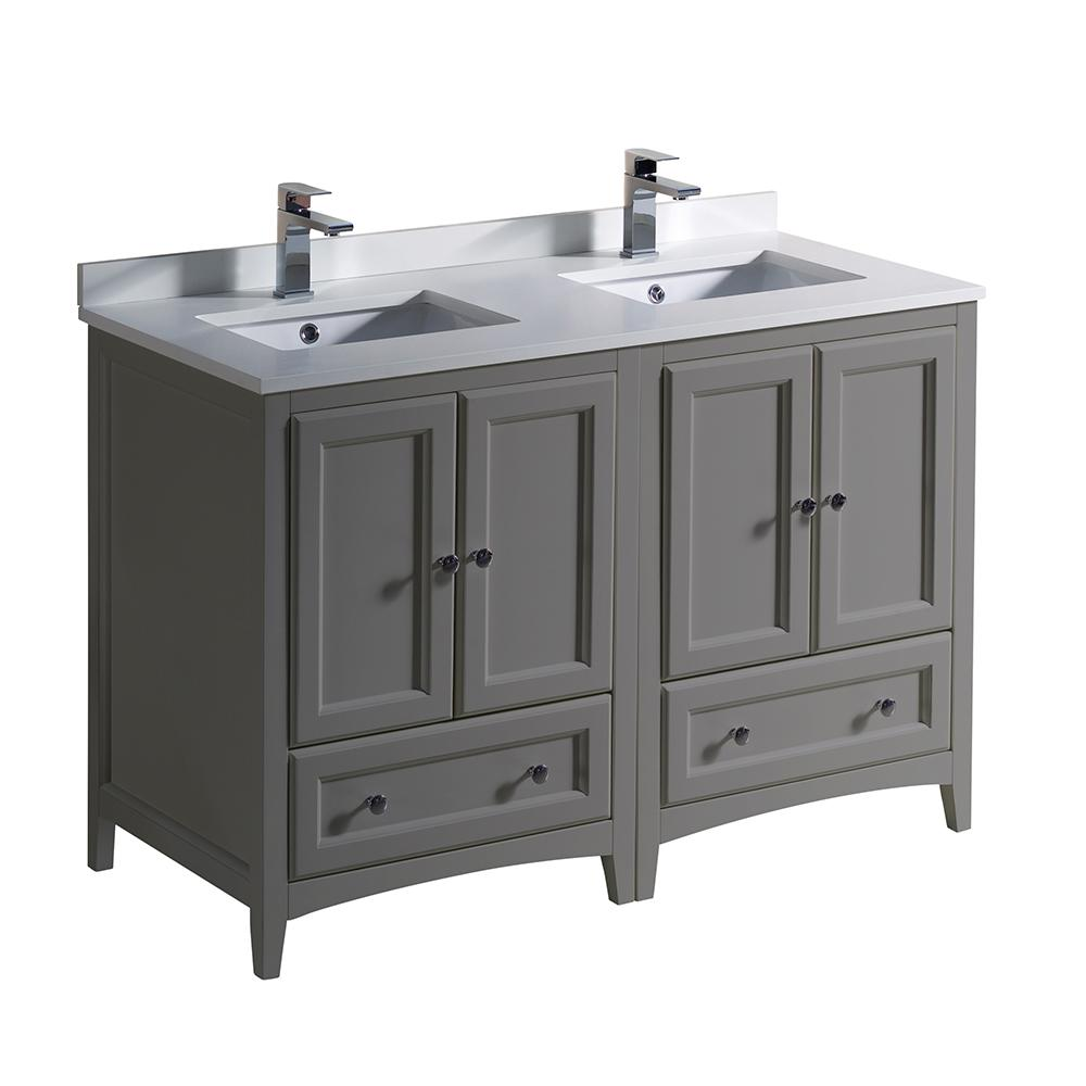 Fresca oxford 48 in traditional double bath vanity in - 48 inch double sink bathroom vanity ...