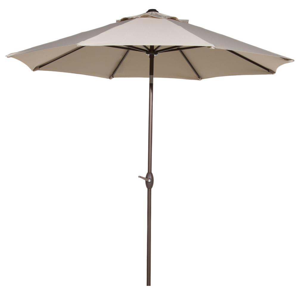 9 ft. Outdoor Table Market Umbrella with Push Button Tilt and