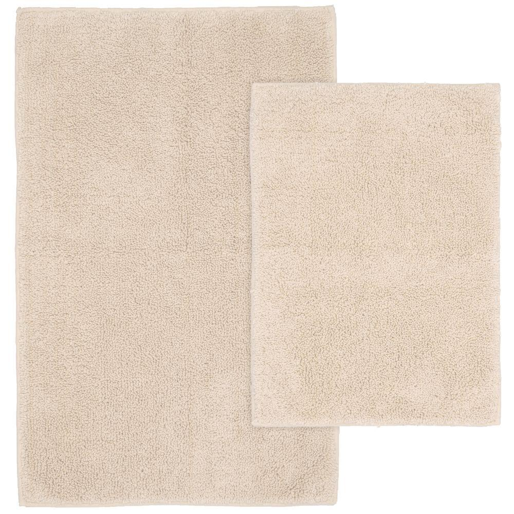 Natural Bathroom Rugs: Garland Rug Queen Cotton Natural 21 In. X 34 In. Washable