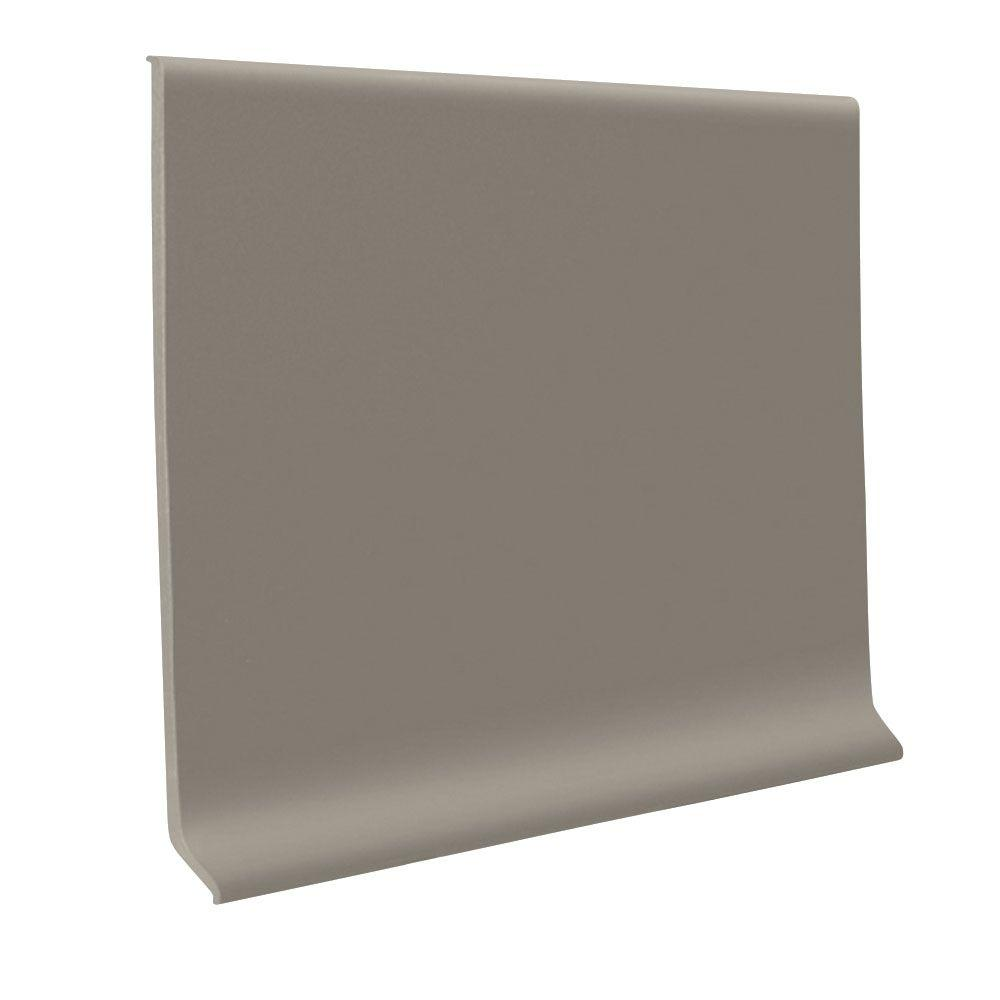 ROPPE 700 Series Pewter 4 in. x 1/8 in. x 48 in. Thermoplastic Rubber Wall Base Cove (30-Pieces)