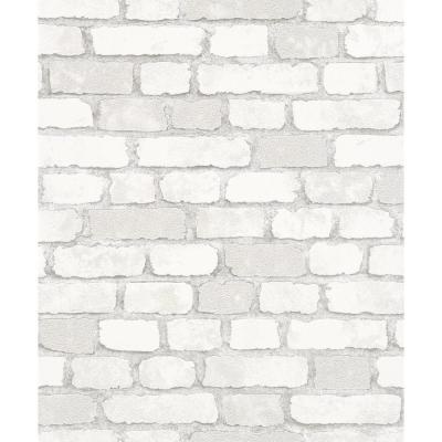 8 in. x 10 in. Granulat White Stone Wallpaper Sample