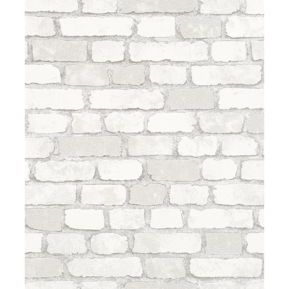 8 in. x 10 in. Granulat White Stone Wallpaper Sample