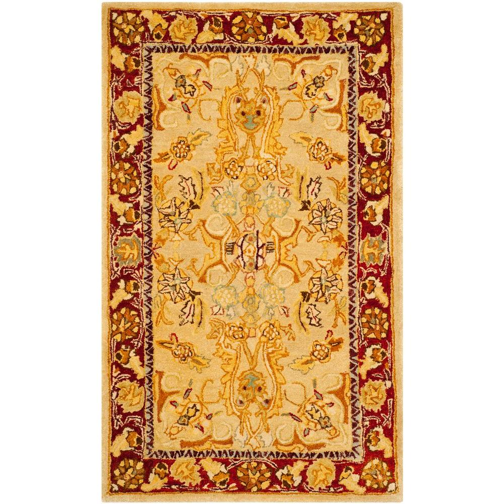 Safavieh Taj Mahal Sage Red 3 Ft X 5 Ft Area Rug Tjm121a
