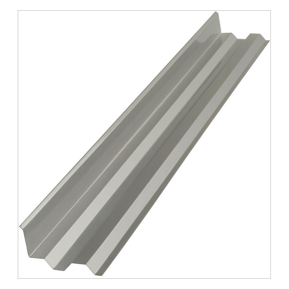 Suntuf 4 ft. Solar Control Silver Polycarbonate Side Ridge