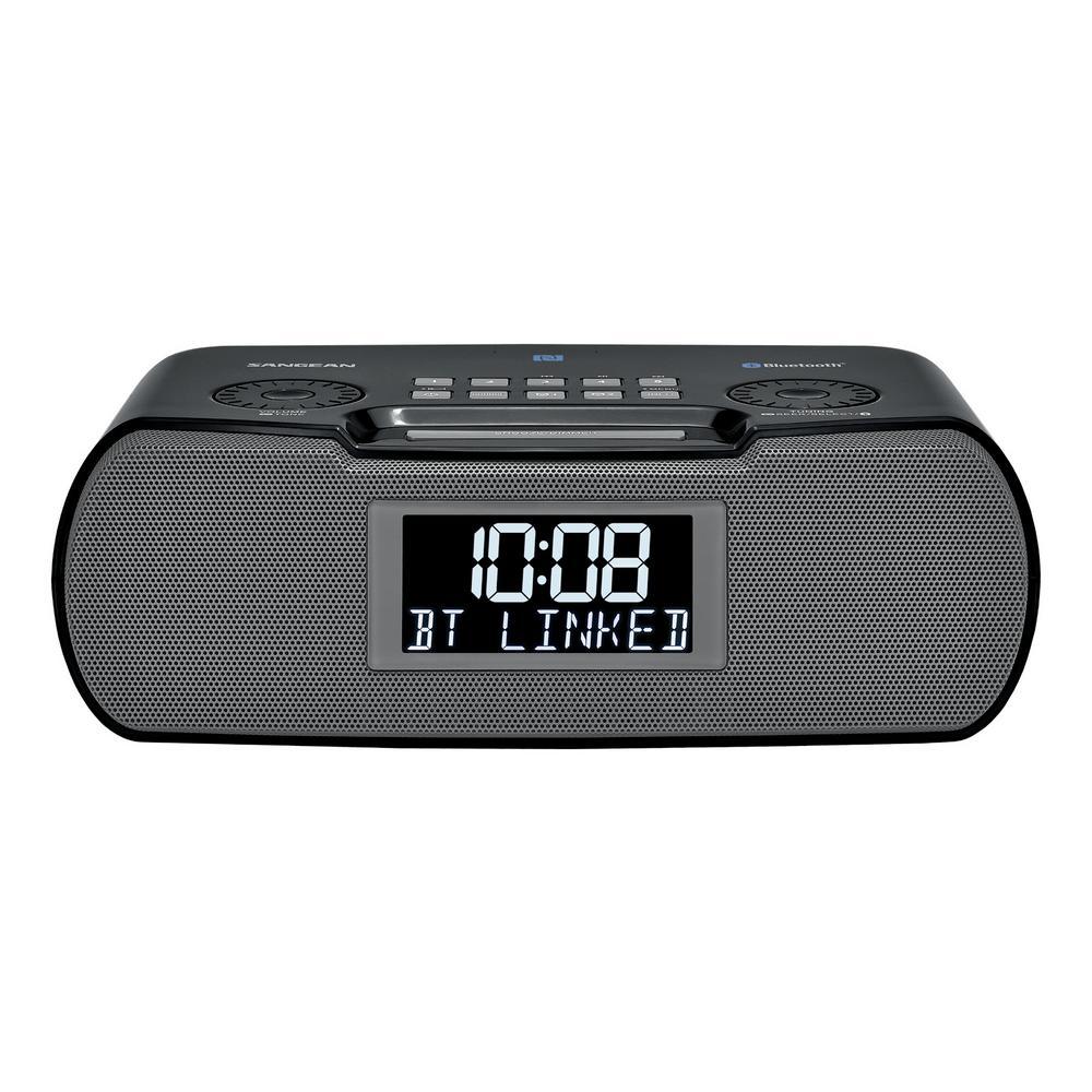 Sangean FM/AM/Bluetooth/Aux-in/USB Charging Digital Tuning Alarm Clock Radio by Sangean