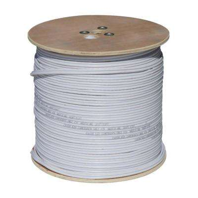 1,000 ft. RG59 Coaxial Cable with Power Cable in White