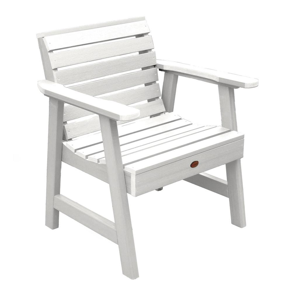 Groovy Highwood Weatherly White Recycled Plastic Outdoor Lounge Chair Gmtry Best Dining Table And Chair Ideas Images Gmtryco