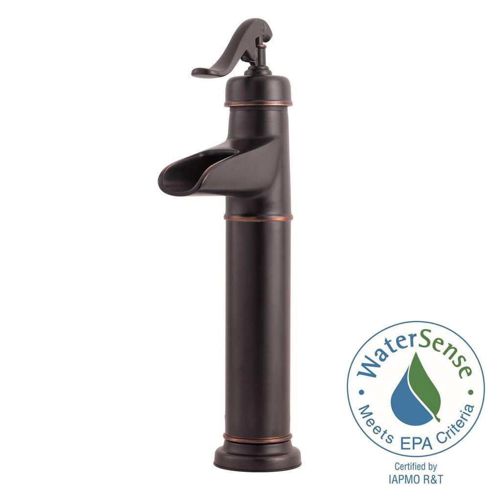 ashfield single hole vessel bathroom faucet in tuscan bronze - Bronze Bathroom Faucet