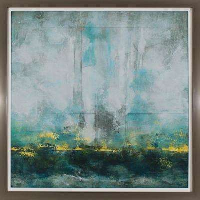 39 in. x 39 in. Cerulean Landscape Printed Framed Wall Art