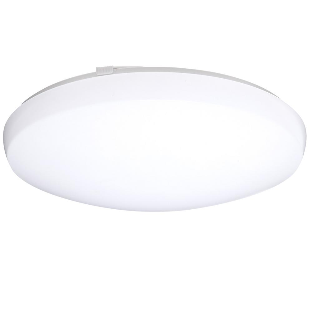 LITHONIALIGHTING Lithonia Lighting 24-Watt Matte White Integrated LED Round Low-Profile Flush Mount