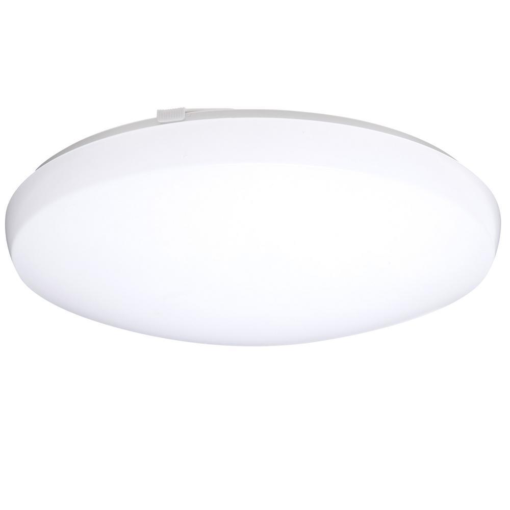 Contractor Select FMLRL 14 in. 24-Watt Integrated LED White 1600 Lumens 4000K Round Flush Mount Light