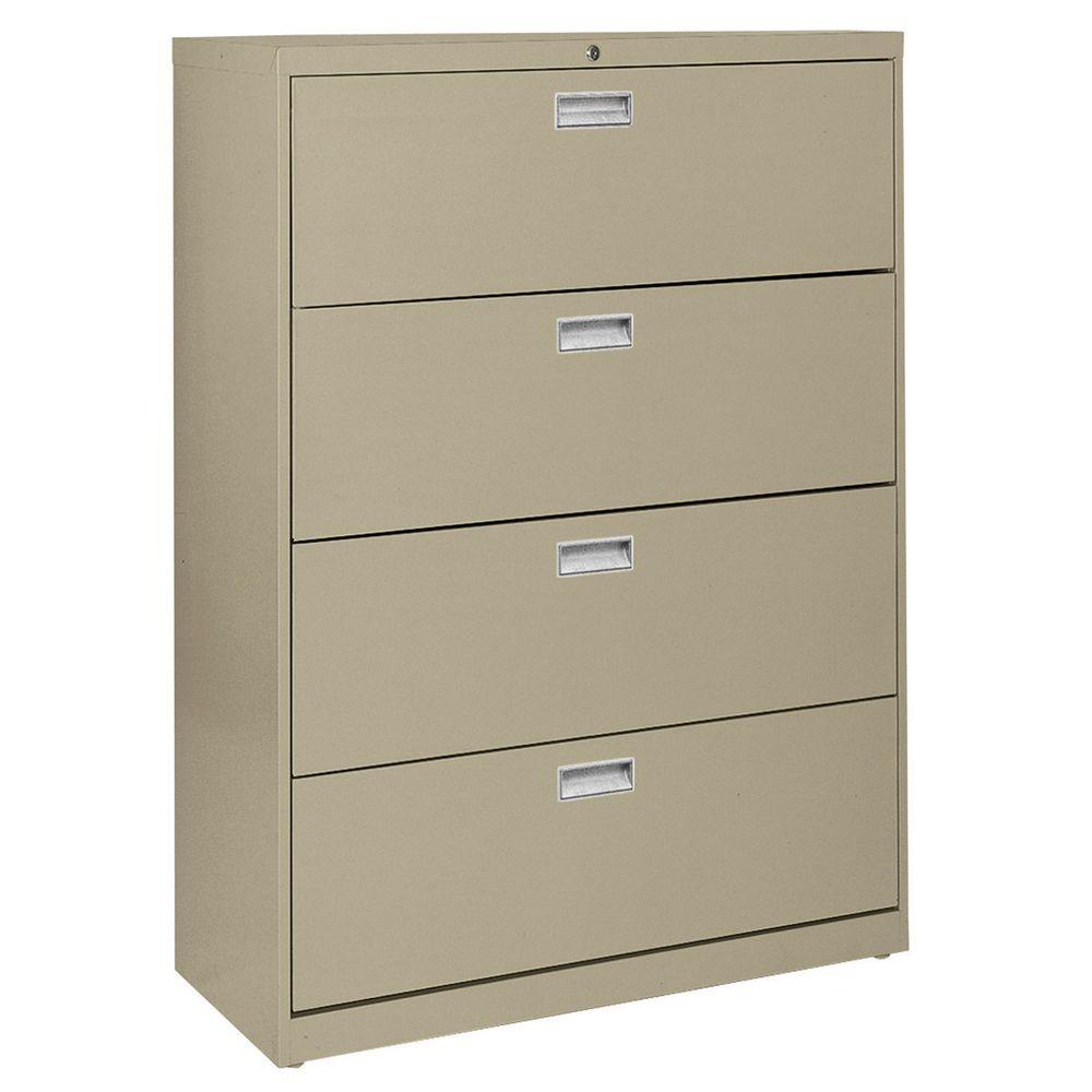 W 4 Drawer Lateral File Cabinet In Tropic Sand