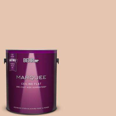 1 gal. #MQ1-31 Tinted to Cockleshell One-Coat Hide Flat Interior Ceiling Paint and Primer in One