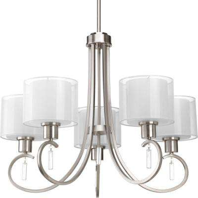 Invite Collection 5-Light Brushed Nickel Chandelier
