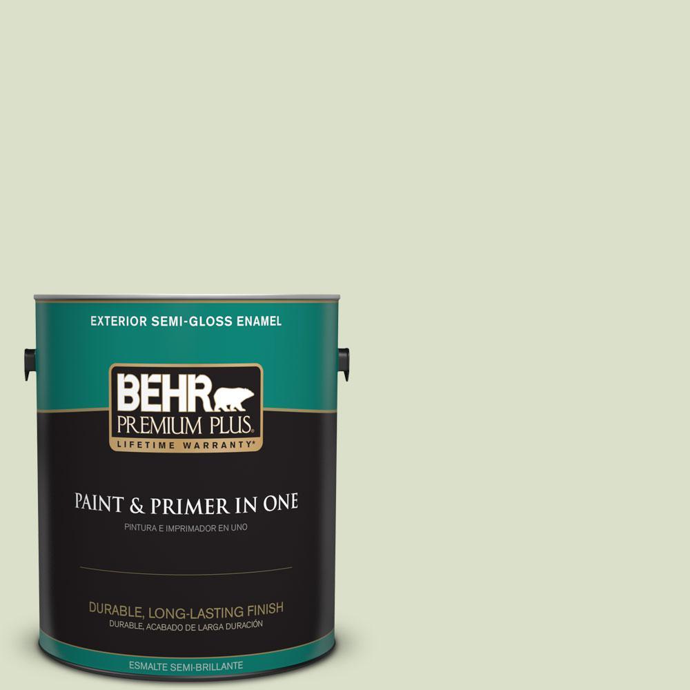 1-gal. #420E-2 Palm Breeze Semi-Gloss Enamel Exterior Paint