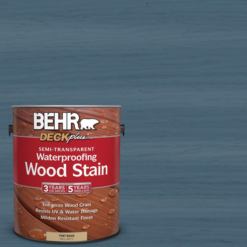 1 gal. #ST-107 Wedgewood Semi-Transparent Waterproofing Wood Stain