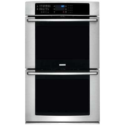 IQ-Touch 30 in. Double Electric Wall Oven Self-Cleaning with Convection in Stainless Steel