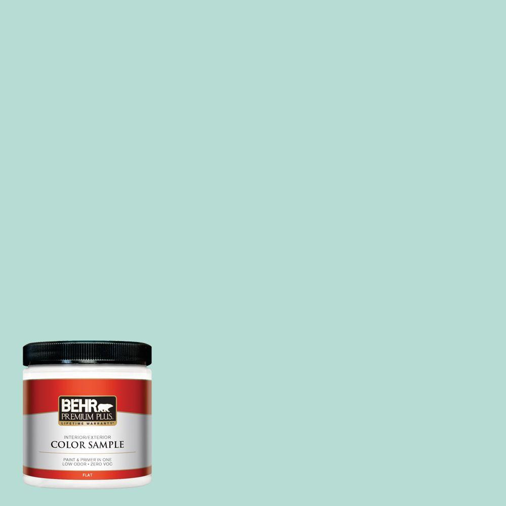 BEHR Premium Plus 8 oz. #490C-3 Balmy Seas Interior/Exterior Paint Sample