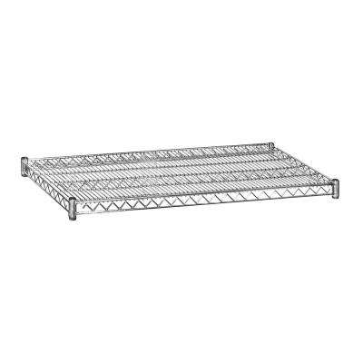2 in. H x 48 in. W x 24 in. D Shelf Wire Chrome Finish Commercial Shelving Unit