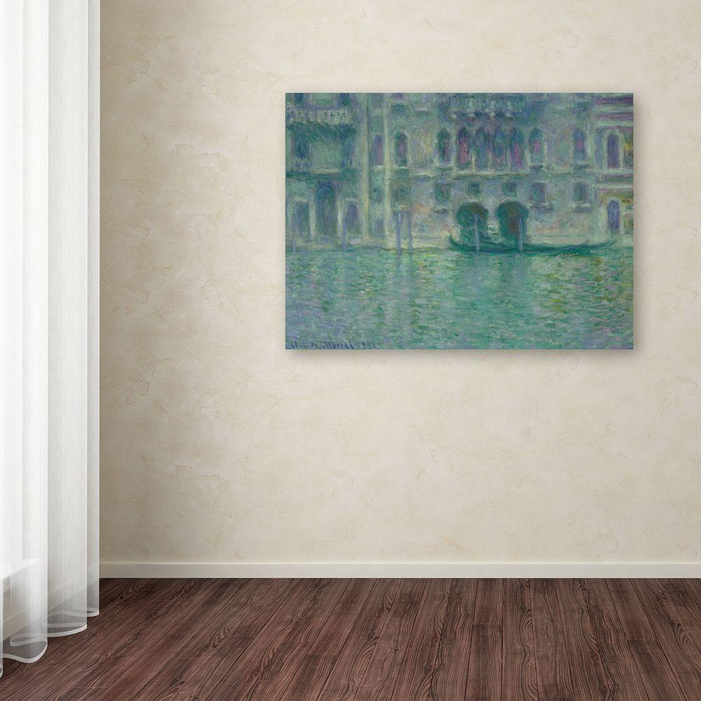 """35 in. x 47 in. """"Palazzo Da Mula Venice 1908"""" Canvas"""
