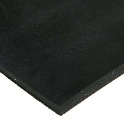 Cloth Inserted SBR 1/4 in. x 12 in. x 12 in. 70A Rubber Sheet - Black