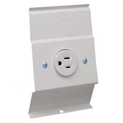 F Series White 120 Volt Baseboard Integral Receptacle Kit Accessory