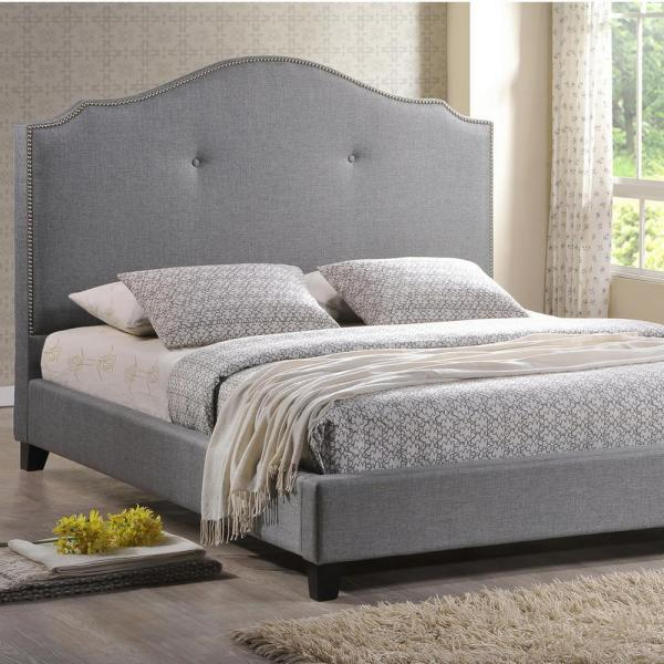 Baxton Studio Marsha Grey Queen Upholstered Bed 28862-4381-HD