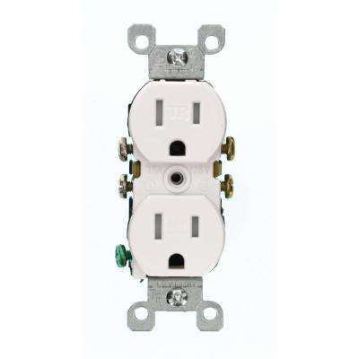 15 Amp Duplex Outlet, White