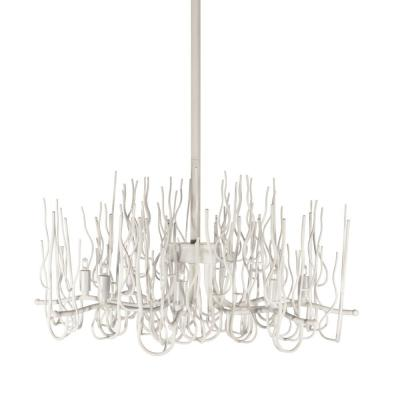 8-Light Matte White Chandelier