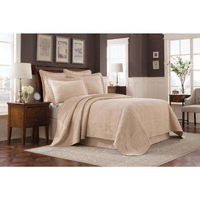 Williamsburg Abby Linen Twin Bedspread