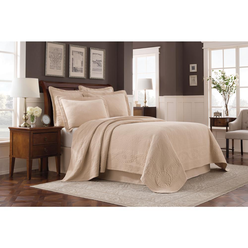 Williamsburg Abby Linen Solid Full Coverlet