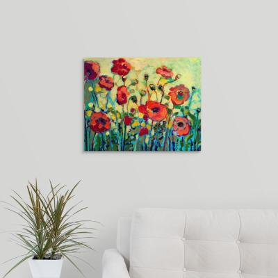 """20 in. x 16 in. """"Anitas Poppies"""" by  Jennifer Lommers Canvas Wall Art"""