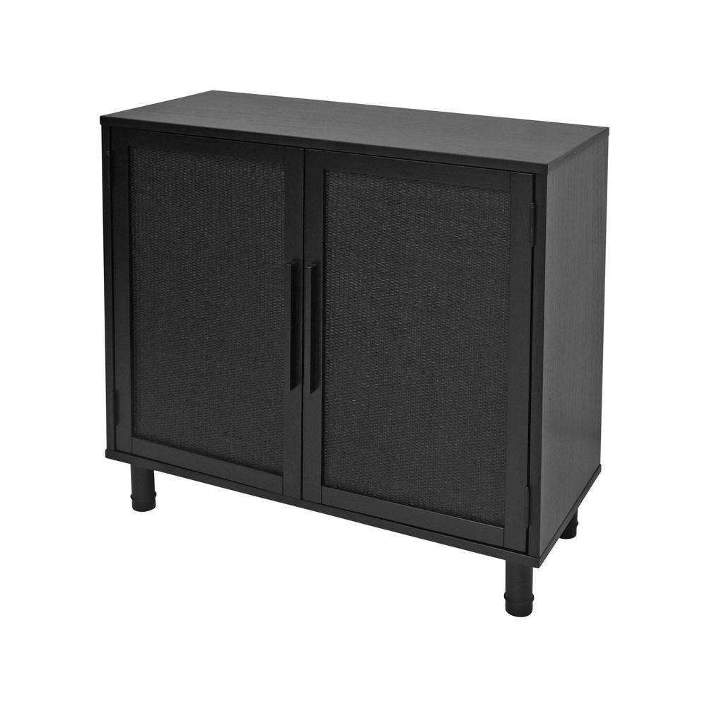 Delancey Black 2-Door Cabinet
