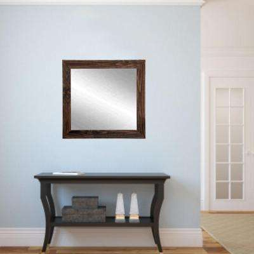 Rustic Espresso Framed Mirror