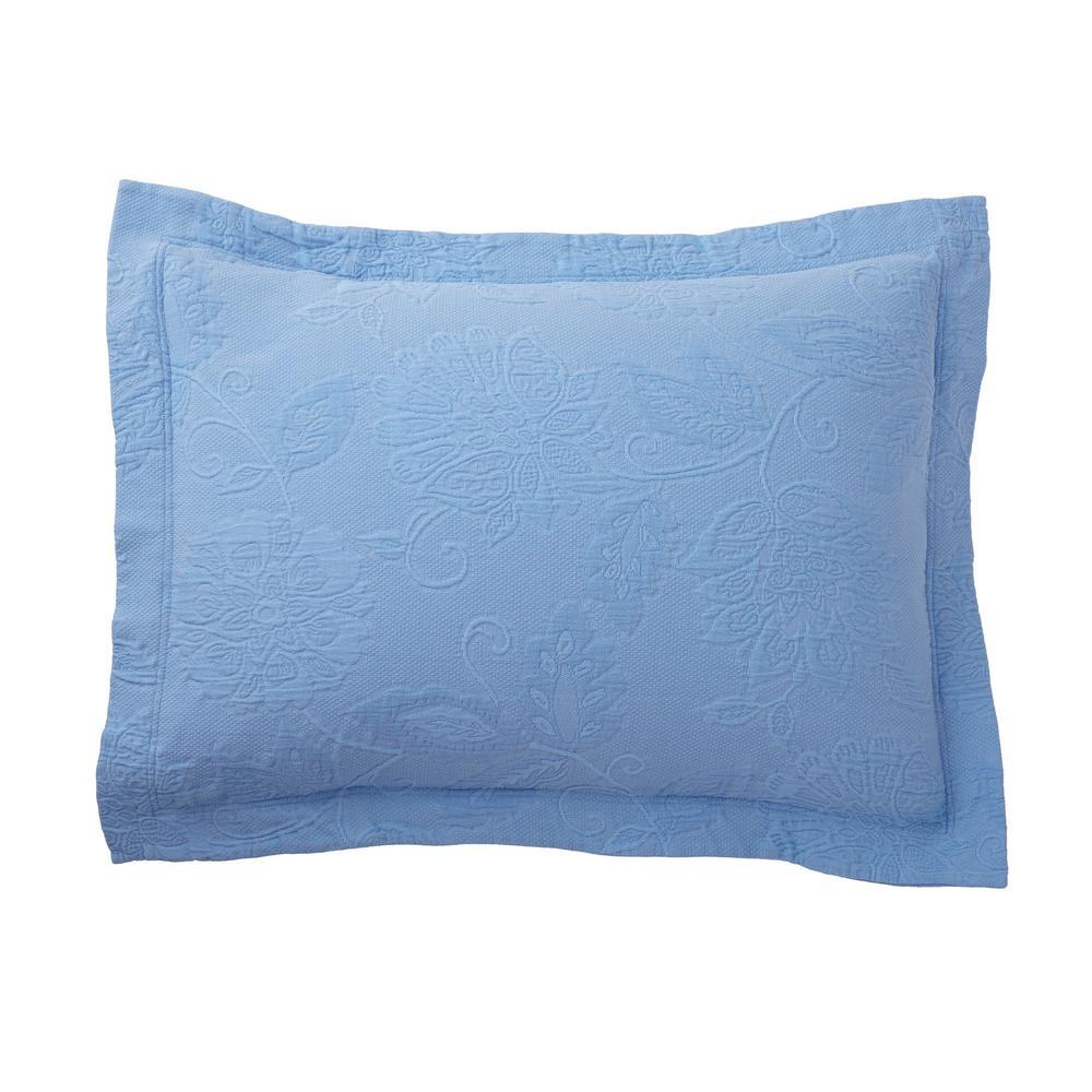 Putnam Matelasse Cornflower Blue Pillow Cover