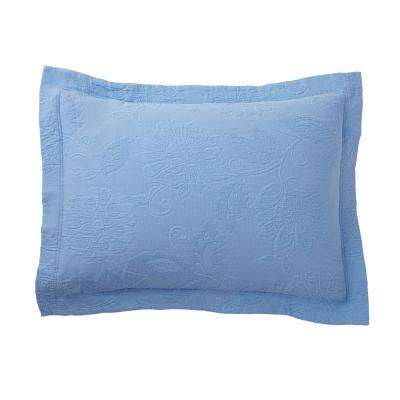Putnam Matelasse Cornflower Blue Pillow Cover