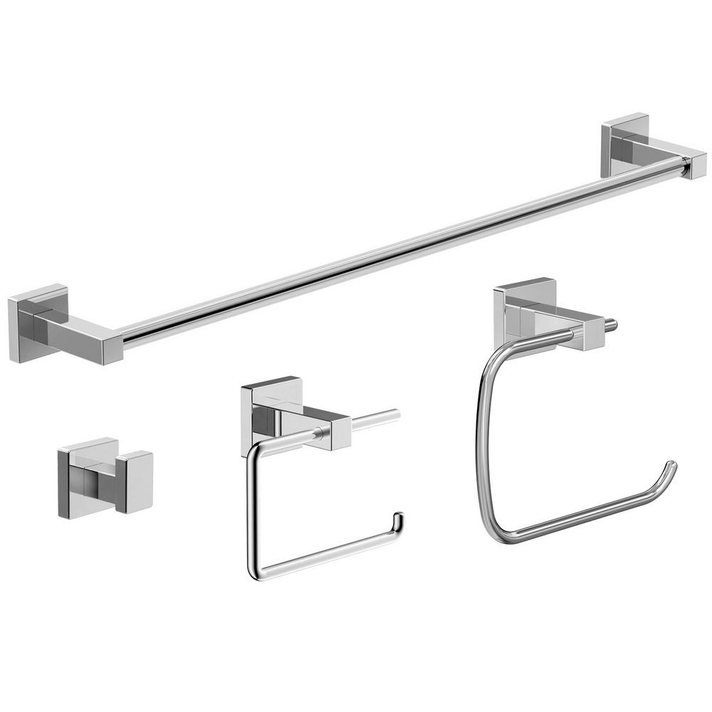 symmons duro 4 piece bath accessory kit in chrome