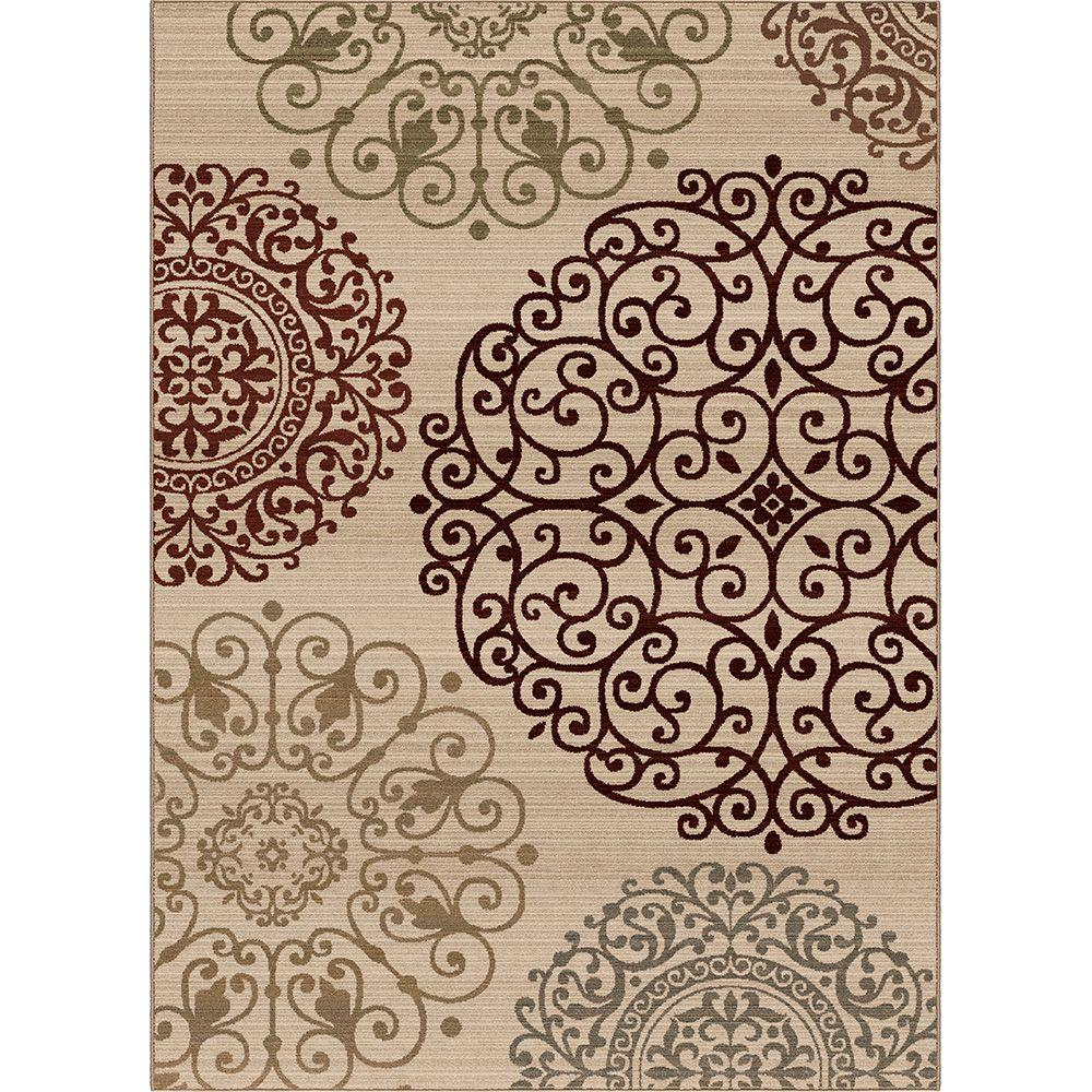 Orian Rugs Aston White 7 ft. 10 in. x 10 ft. 10 in. Area Rug