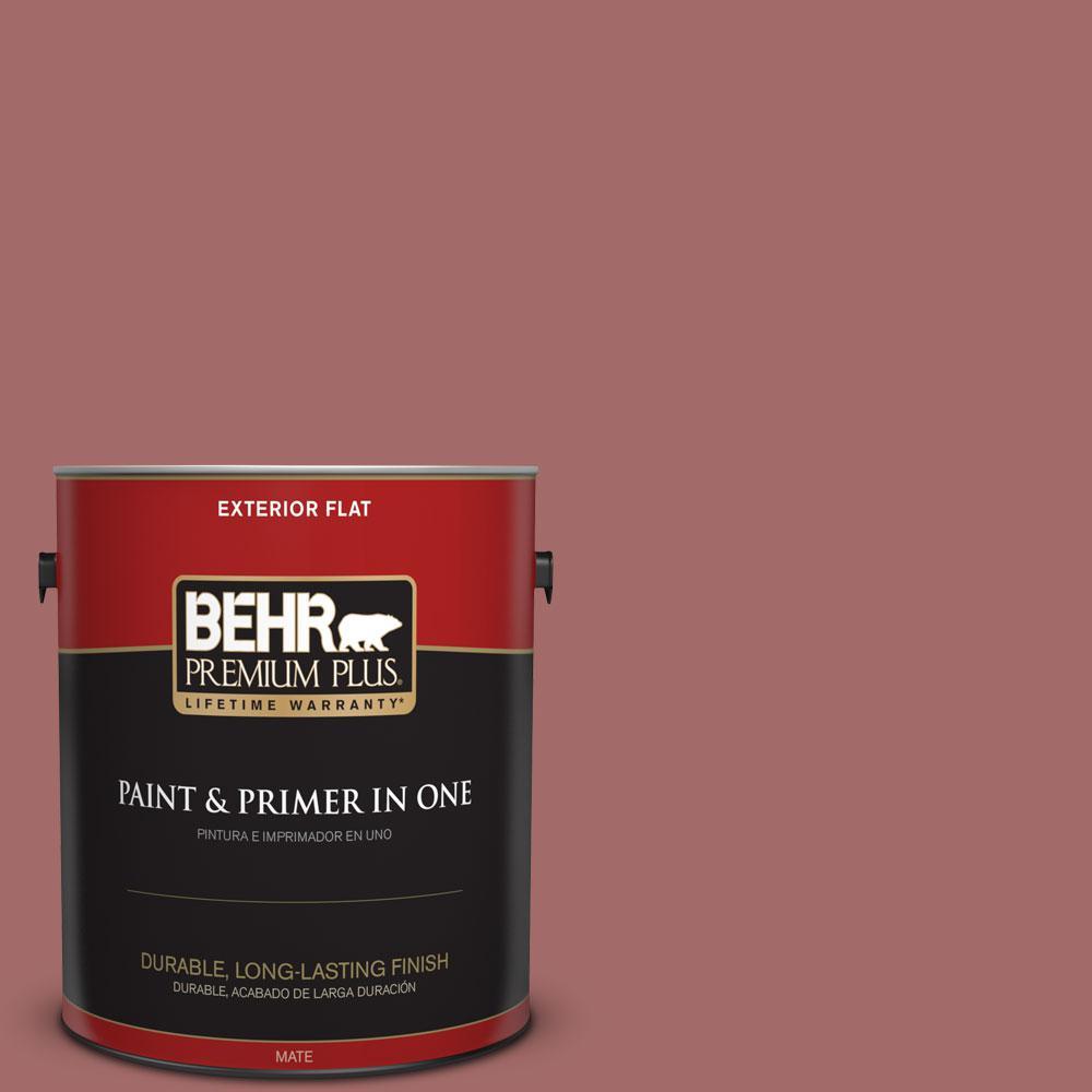 BEHR Premium Plus 1-gal. #S150-5 Vermilion Flat Exterior Paint