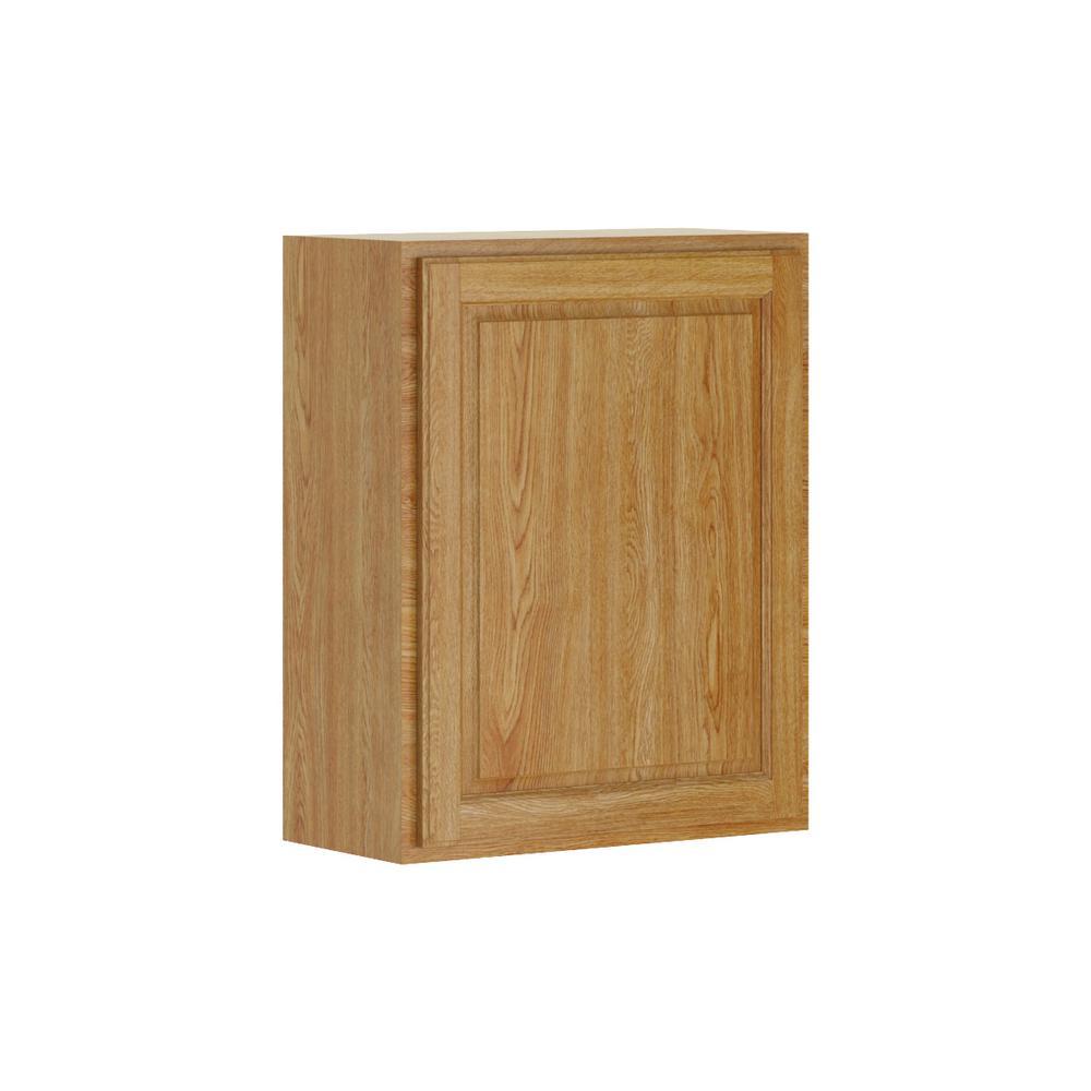 Hampton bay madison assembled 9x34 5x24 in base cabinet in medium oak -  Hampton Bay Cabinet Doors By Hampton Bay Madison Assembled 24x30x12 In Wall Cabinet In Medium