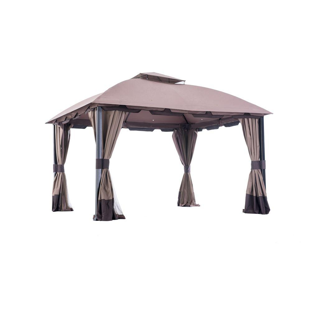 Sunjoy Carrington 12 Ft. X 10 Ft. Domed Top Gazebo L GZ659PST   The Home  Depot