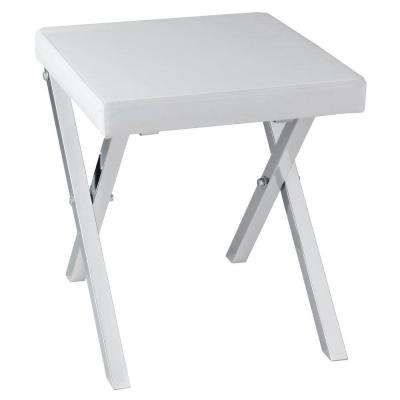14 in. x 15.75 in. Folding Vanity Stool in Chrome